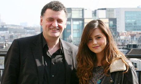 Jenna-Louise Coleman with Doctor Who showrunner Steven Moffat