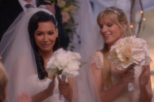 Glee-Brittany-Santana-wedding-married-season-6-2015-Gloria-Estefan