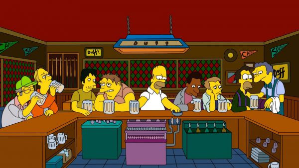 Cartoons_Homer_with_friends_in_a_bar_at_Moe_095307_