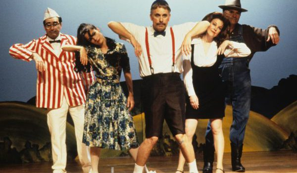 Waiting for Guffman (1996) Directed by Christopher Guest Shown: Eugene Levy (as Dr. Allan Pearl), Parker Posey (as Libby Mae Brown), Christopher Guest (as Corky St. Clair), Catherine O'Hara (as Sheila Albertson), Fred Willard (as Ron Albertson)