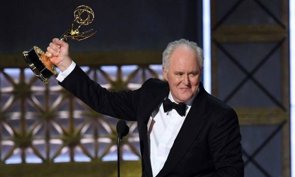 LOS ANGELES, CA - SEPTEMBER 17: Actor John Lithgow accepts Outstanding Supporting Actor in a Drama Series for 'The Crown' onstage during the 69th Annual Primetime Emmy Awards at Microsoft Theater on September 17, 2017 in Los Angeles, California. Kevin Winter/Getty Images/AFP<br /> == FOR NEWSPAPERS, INTERNET, TELCOS & TELEVISION USE ONLY ==