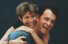 Tom Hanks y Carrie Fisher eran todo sonrisas en las fotos promocionales de la película.