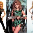 Los futuristas diseños que llevaba Jane Fonda en esta película corren a cargo de Paco Rabanne y de Jacques Fonteray (que en realidad hizo la mayoría del trabajo) y son inolvidables.