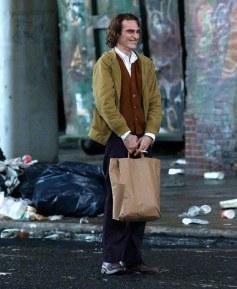 Imagen del rodaje con Joaquin Phoenix como el Joker.