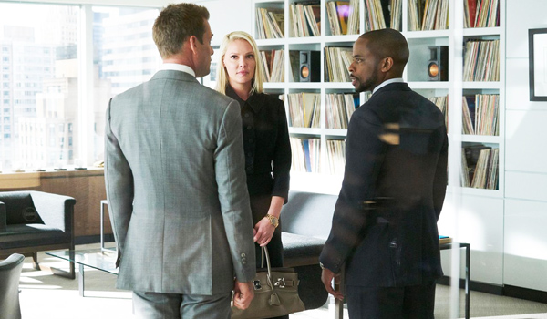 Gabriel Macht, Katherine Heigl y Dulé Hill en Suits