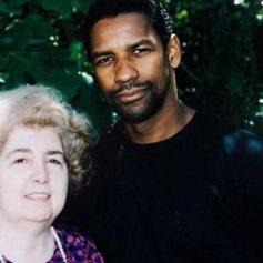 Maria Snoeys-Lagler con Denzel Washington