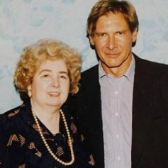 Maria Snoeys-Lagler con Harrison Ford