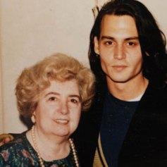 Maria Snoeys-Lagler con Johnny Depp