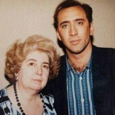 Maria Snoeys-Lagler con Nicholas Cage