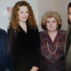 Maria Snoeys-Lagler con Nicole Kidman y Michael Keaton