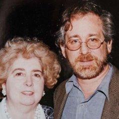 Maria Snoeys-Lagler con Steven Spielberg